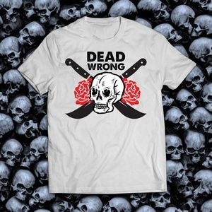 Dead Wrong Skull and Rose Grunge Tee